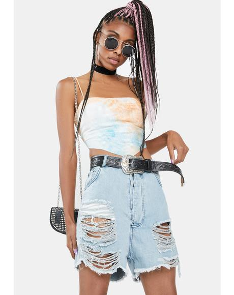 Just Chill Out Tie Dye Crop Top