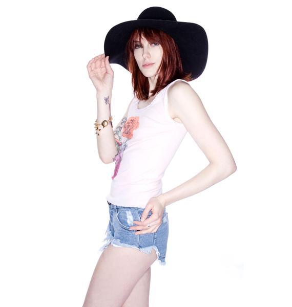 Wildfox Couture Sunshine Rose Buffalo Tank
