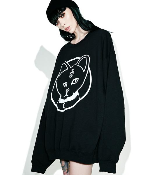 Witch Worldwide Witch Kitty Oversized Sweatshirt