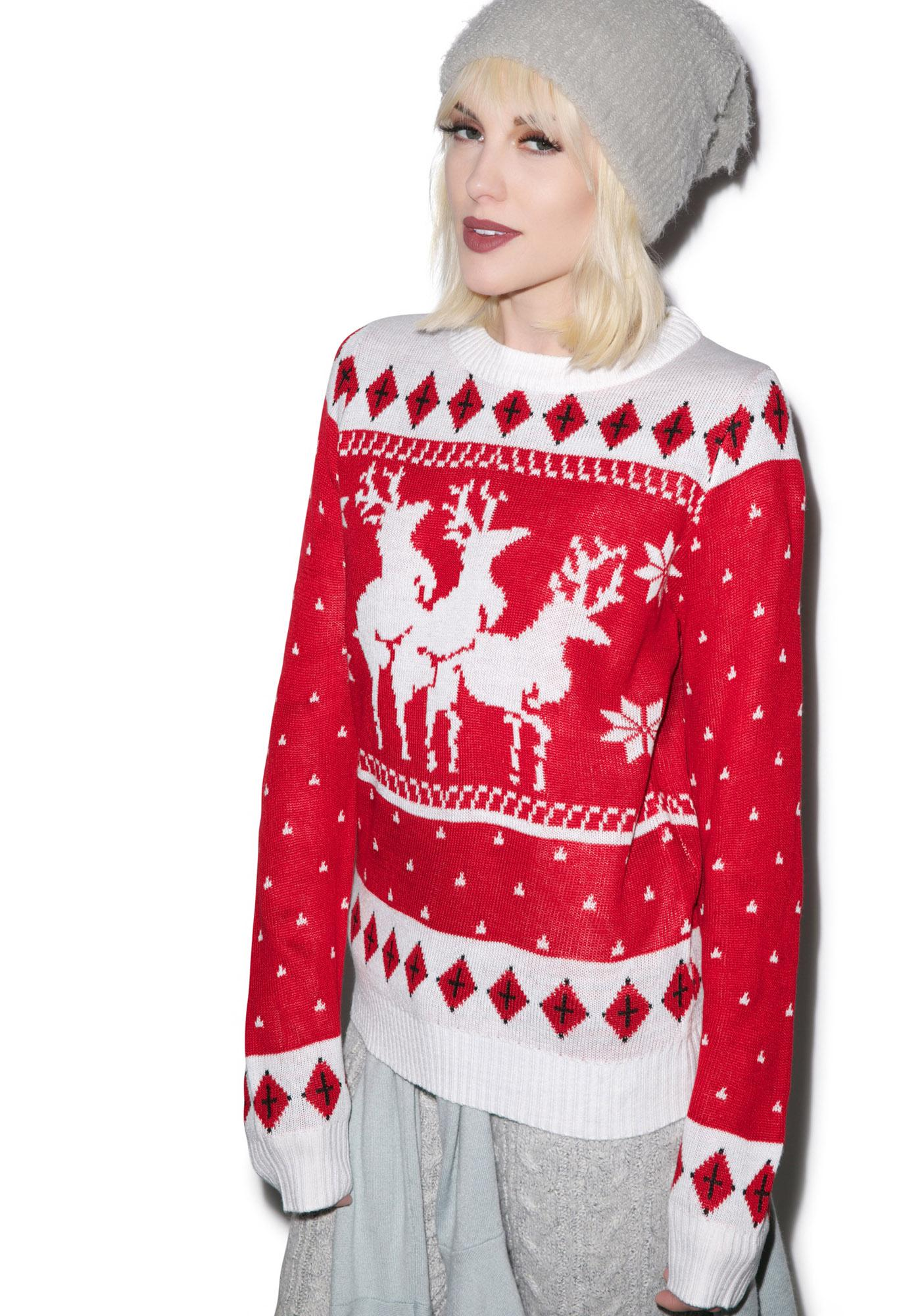 Tipsy Elves Menage A Trois Sweater