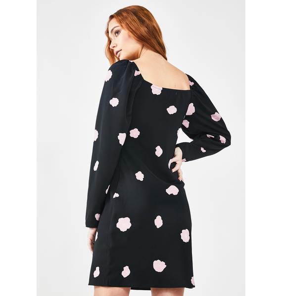 Glamorous Black Floral Mini Dress