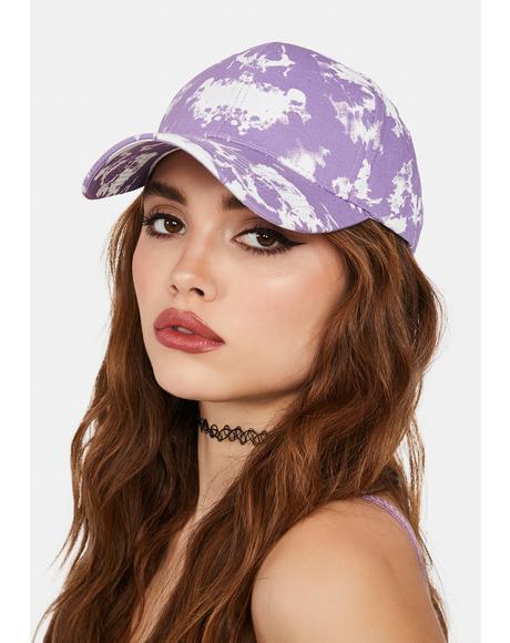 Lilac Sneaky Truth Tie Dye Cap