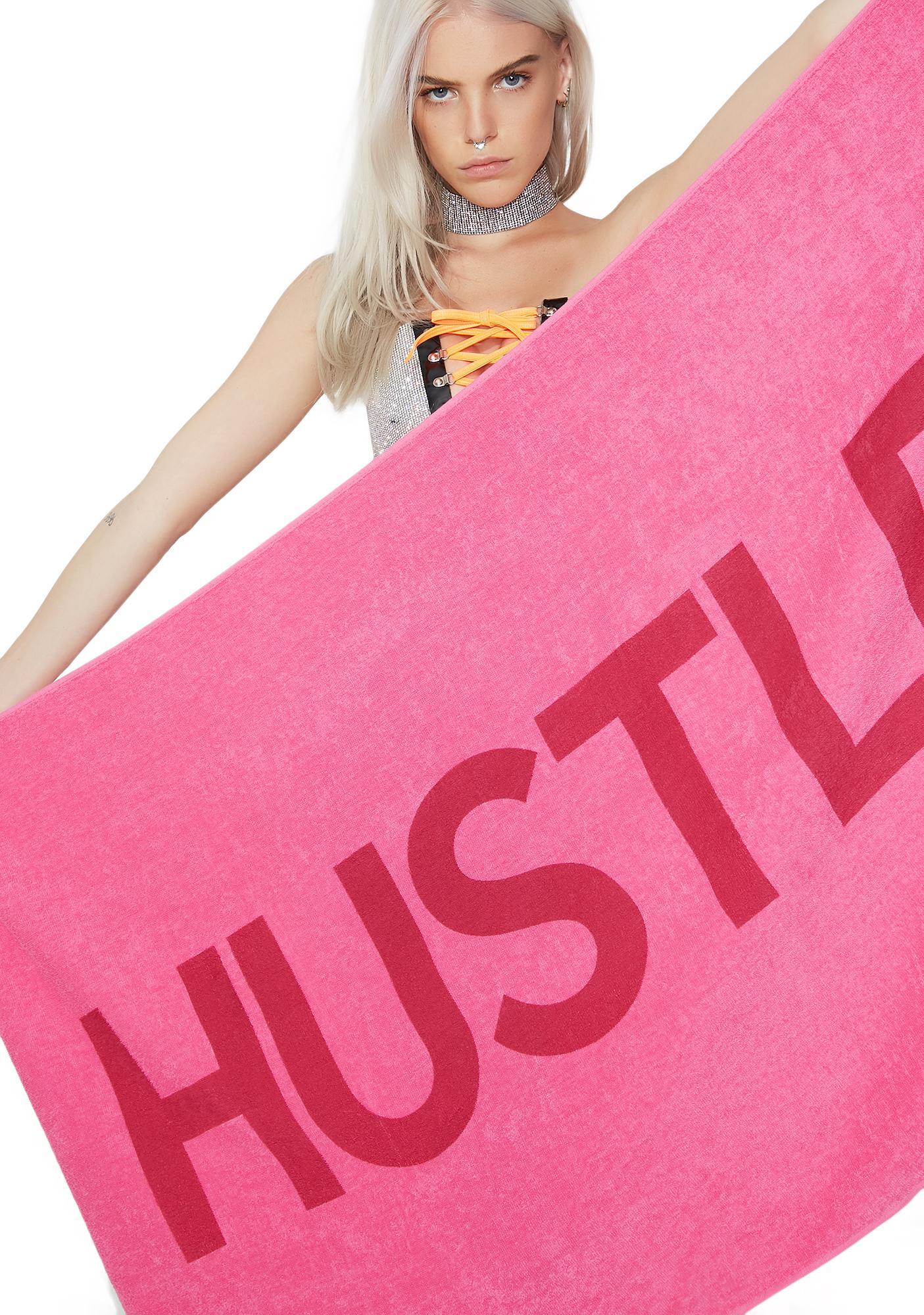 Hustler Hustler Logo Beach Towel