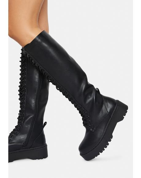 Breathtaking Lovers Lace Up Boots