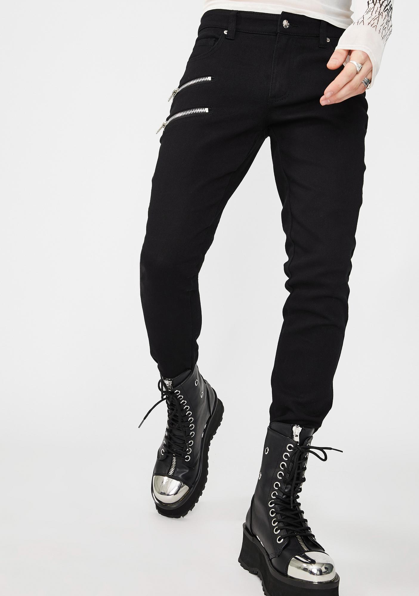 Tripp NYC Double Zipper Biker Jeans