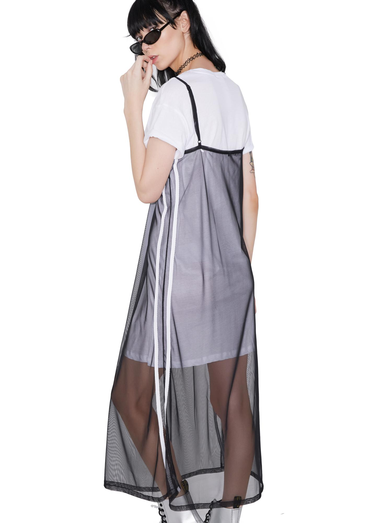 Game Face Sheer Layered Dress