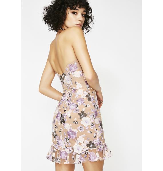 For Love & Lemons Posy Embroidered Mini Dress