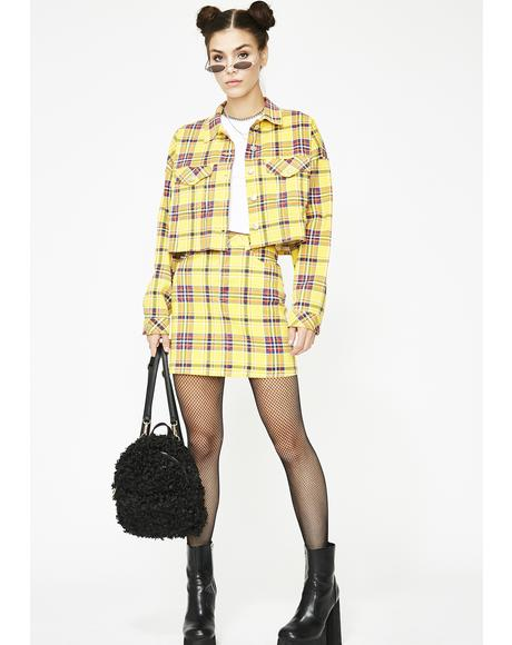 Class Of Baddies Plaid Jacket