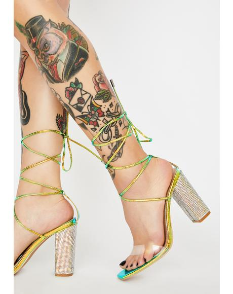 Mermaid Backstage Pass Wrap Heels