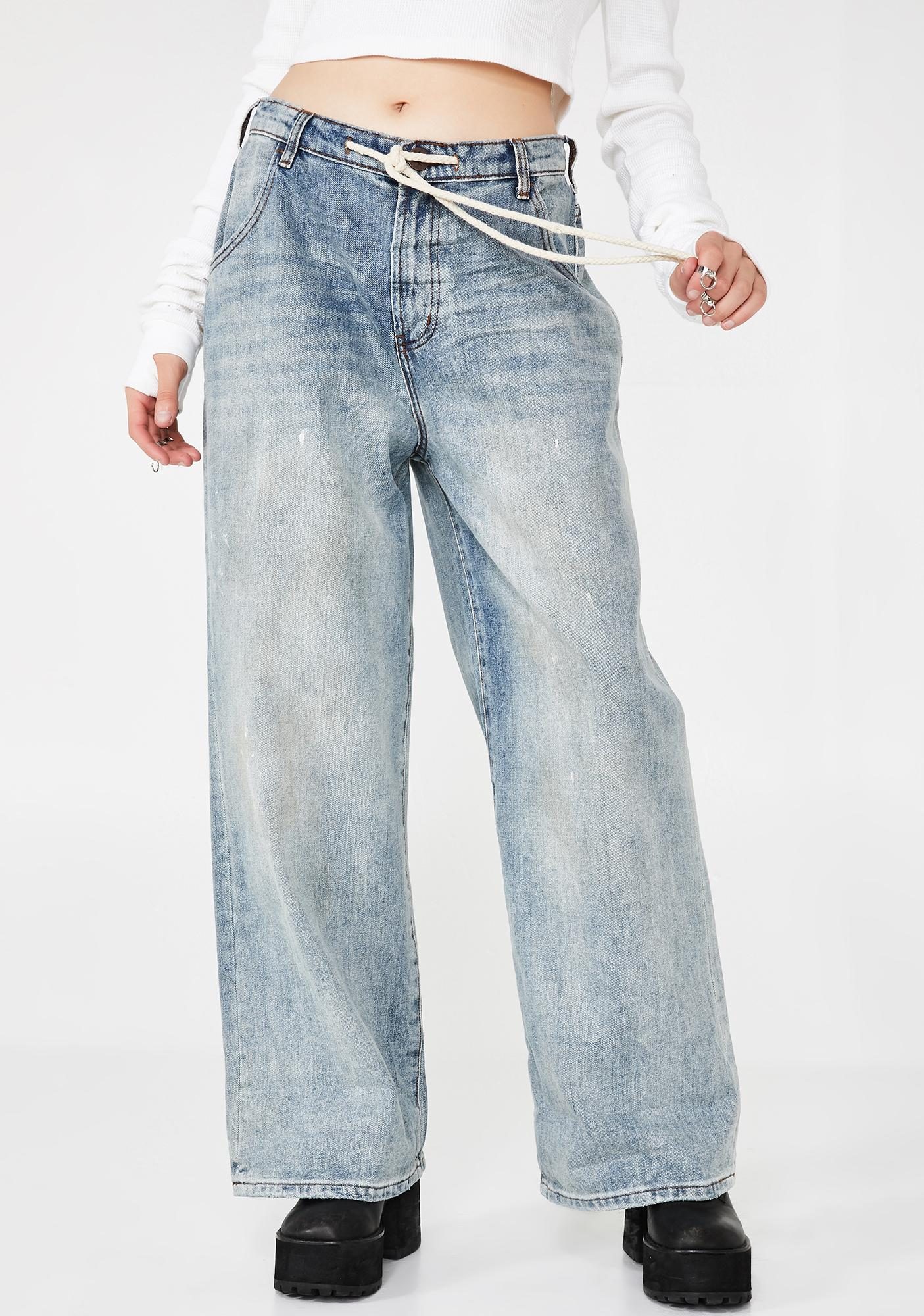 471607d0986 One Teaspoon Bad Boys High Waist Wide Leg Blue Jeans | Dolls Kill
