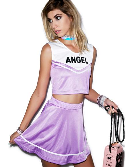 Send Me An Angel Cheerleader Skirt Set