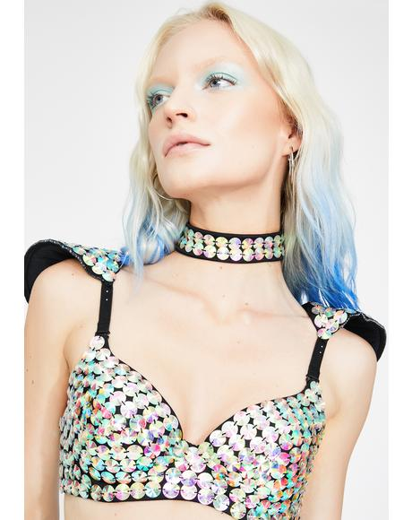 Aura Jeweled Choker