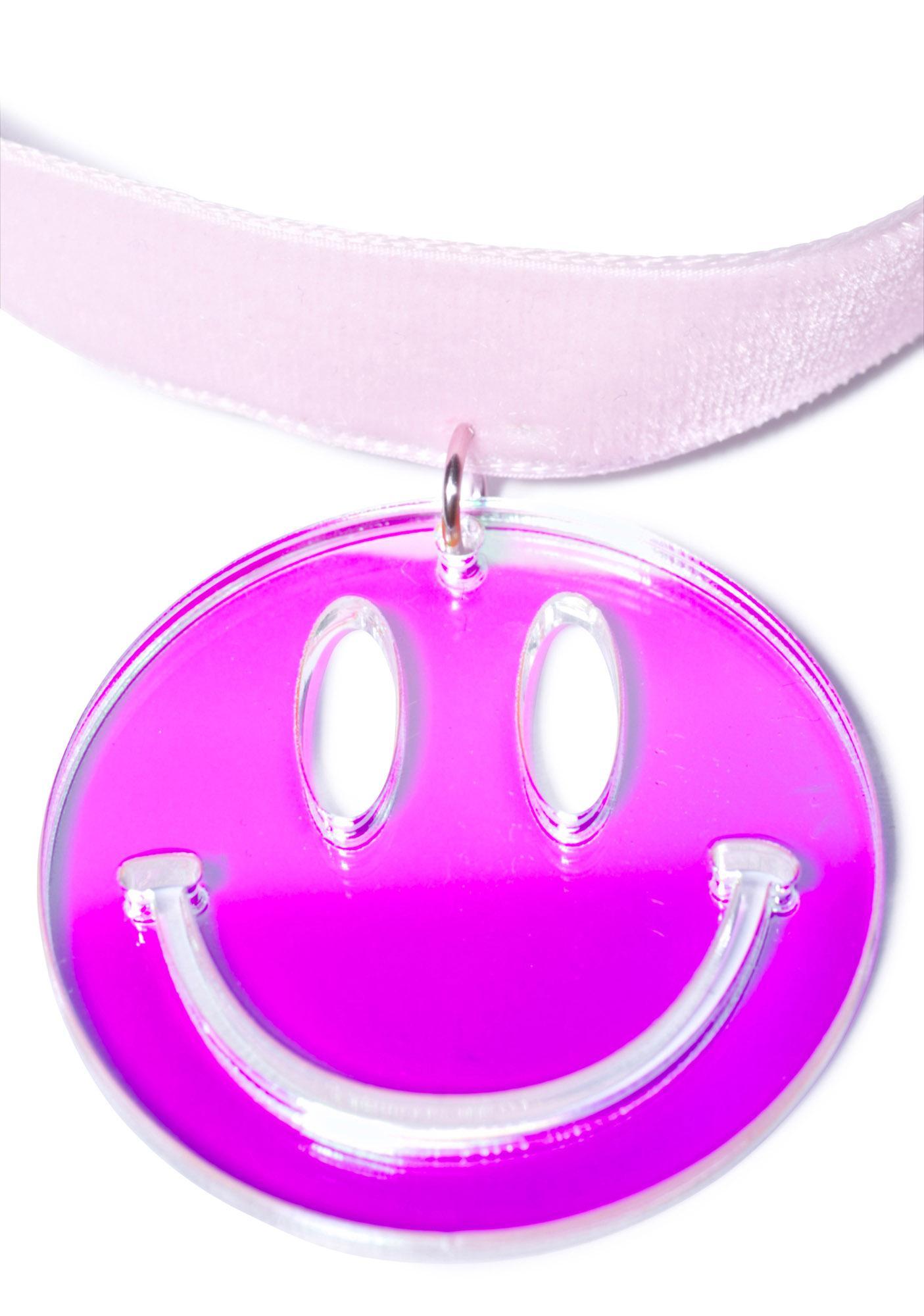 Suzywan Deluxe Velvet Smiley Face Choker