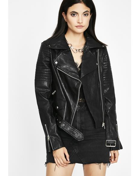 Moto Chic Vegan Jacket