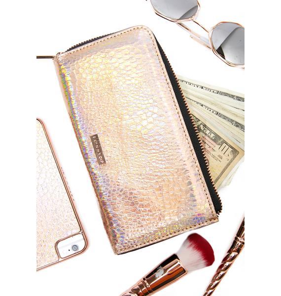 Skinnydip Rose Shimmer Wallet