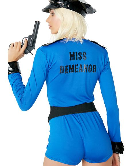 Miss Demeanor Cop Costume
