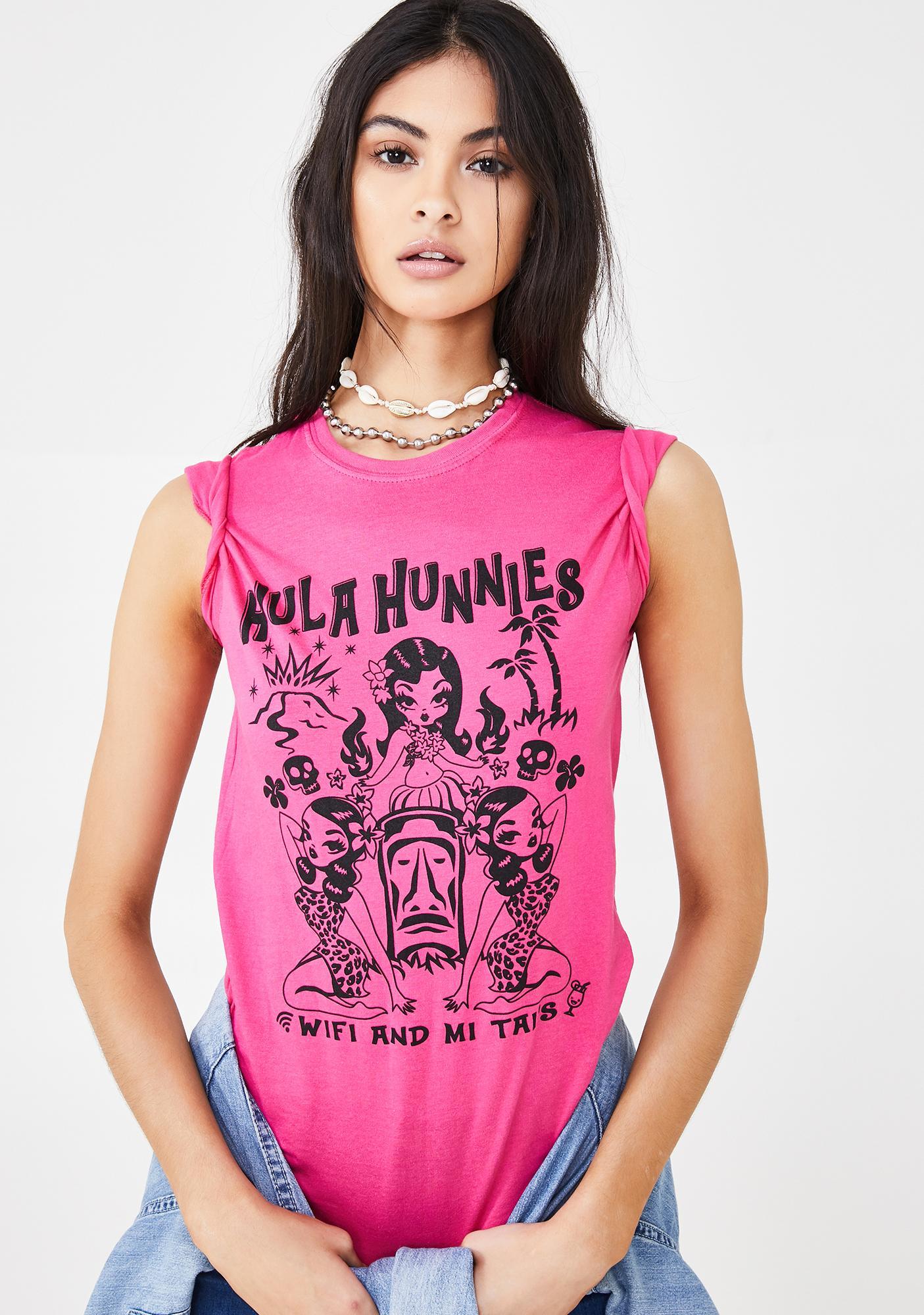 NEW GIRL ORDER Hula Hunnies Graphic Tee