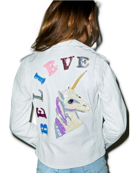 Believe Biker Jacket