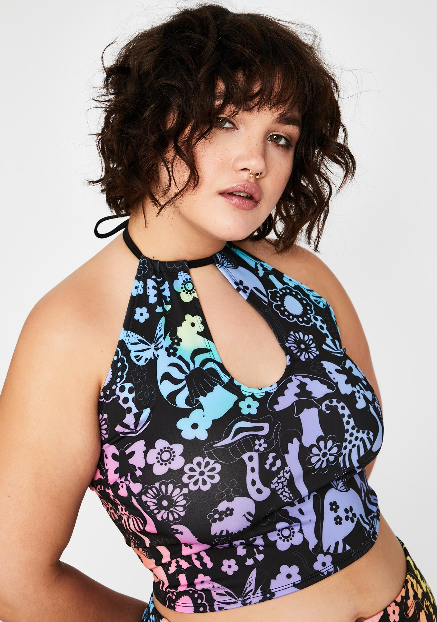 Current Mood Another Night Cap Halter Top