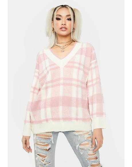 Chilled Out Oversized Plaid Sweater