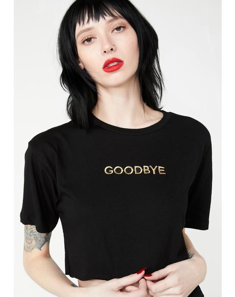 Goodbye Graphic Crop Top