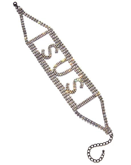 So Shady Rhinestone Choker