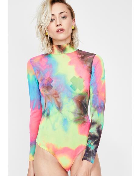 Rainbow Glow Mesh Bodysuit