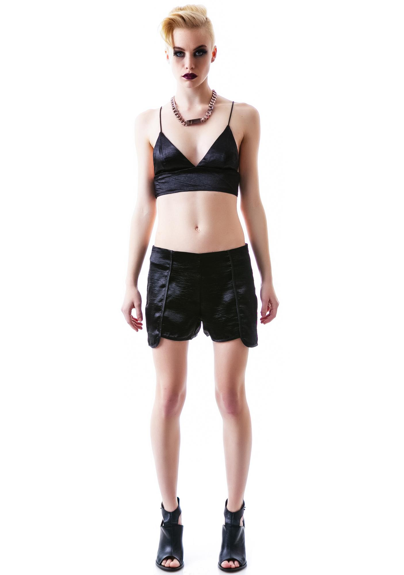 Dark Daze Satin Shorts