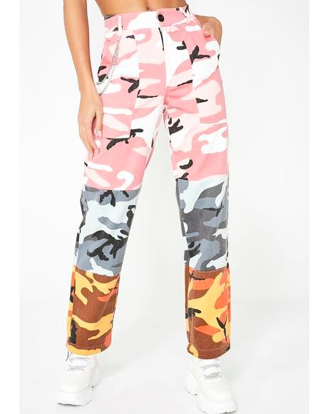 Pixie Concrete Jungle Camo Pants