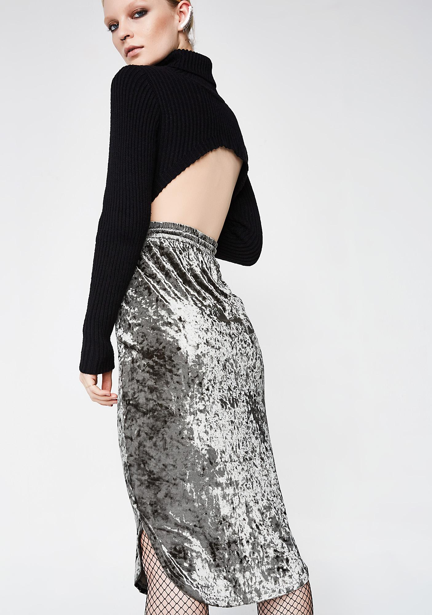 Straight Crushin' Midi Skirt