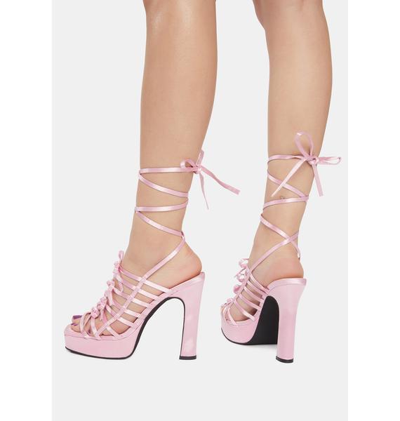 Sugar Thrillz Cutest Curtsy Strappy Wrap Heels