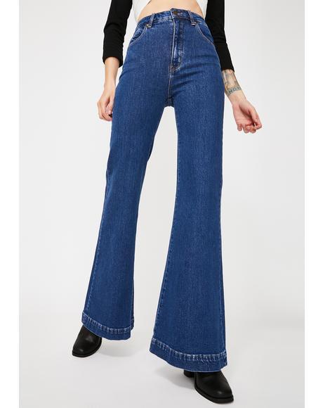Jeanne Blue Organic Eastcoast Flare Jeans