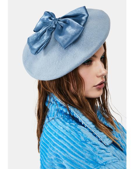 Aqua Hillside Princess Bow Beret