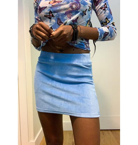 dELiA*s by Dolls Kill Sky's The Limit Velour Skirt