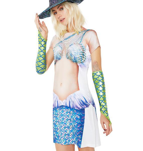 Mermaid Coverup Tee