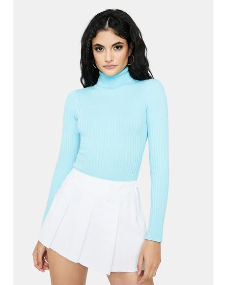 Closure Please Ribbed Turtleneck Bodysuit