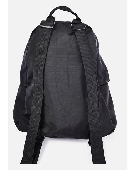 Black Mono Half Pint Mini Backpack