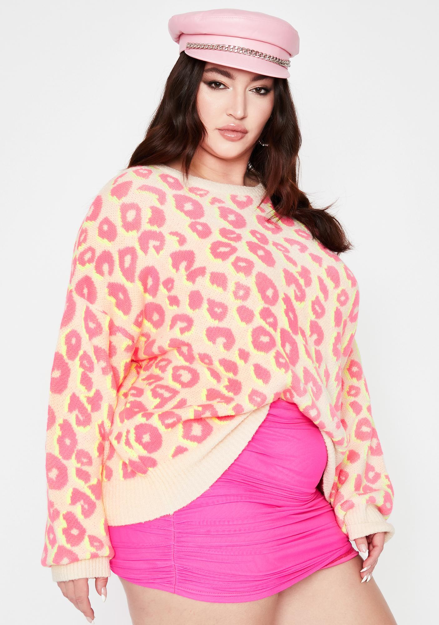 Wild Feral Delight Leopard Sweater