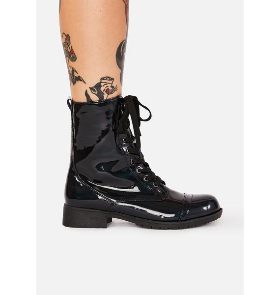 Witch I Am Ur Leader Hologram Boots