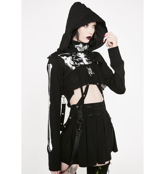Killstar Dead Girl Superstar Cropped Hoodie