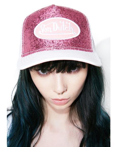 Pink Sparkle Hat