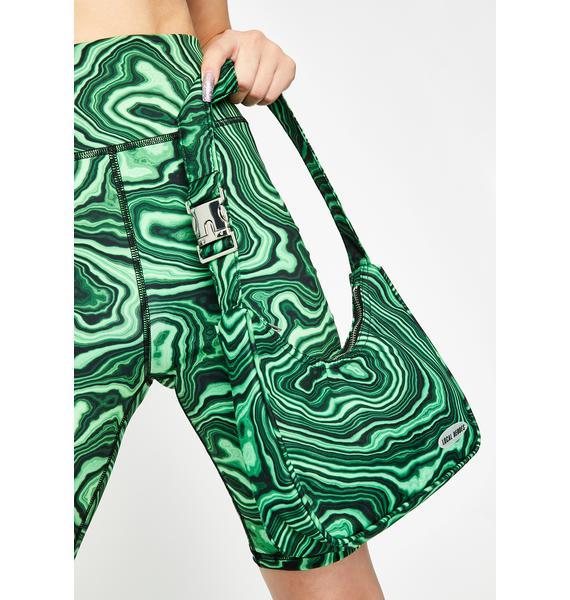 Local Heroes Green Printed Shoulder Bag