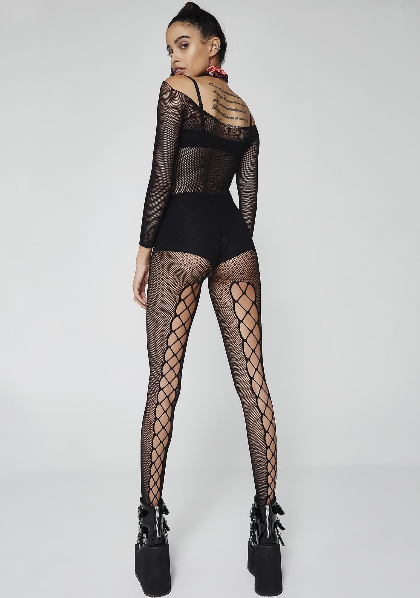 Write Ur Spells Fishnet Bodystocking
