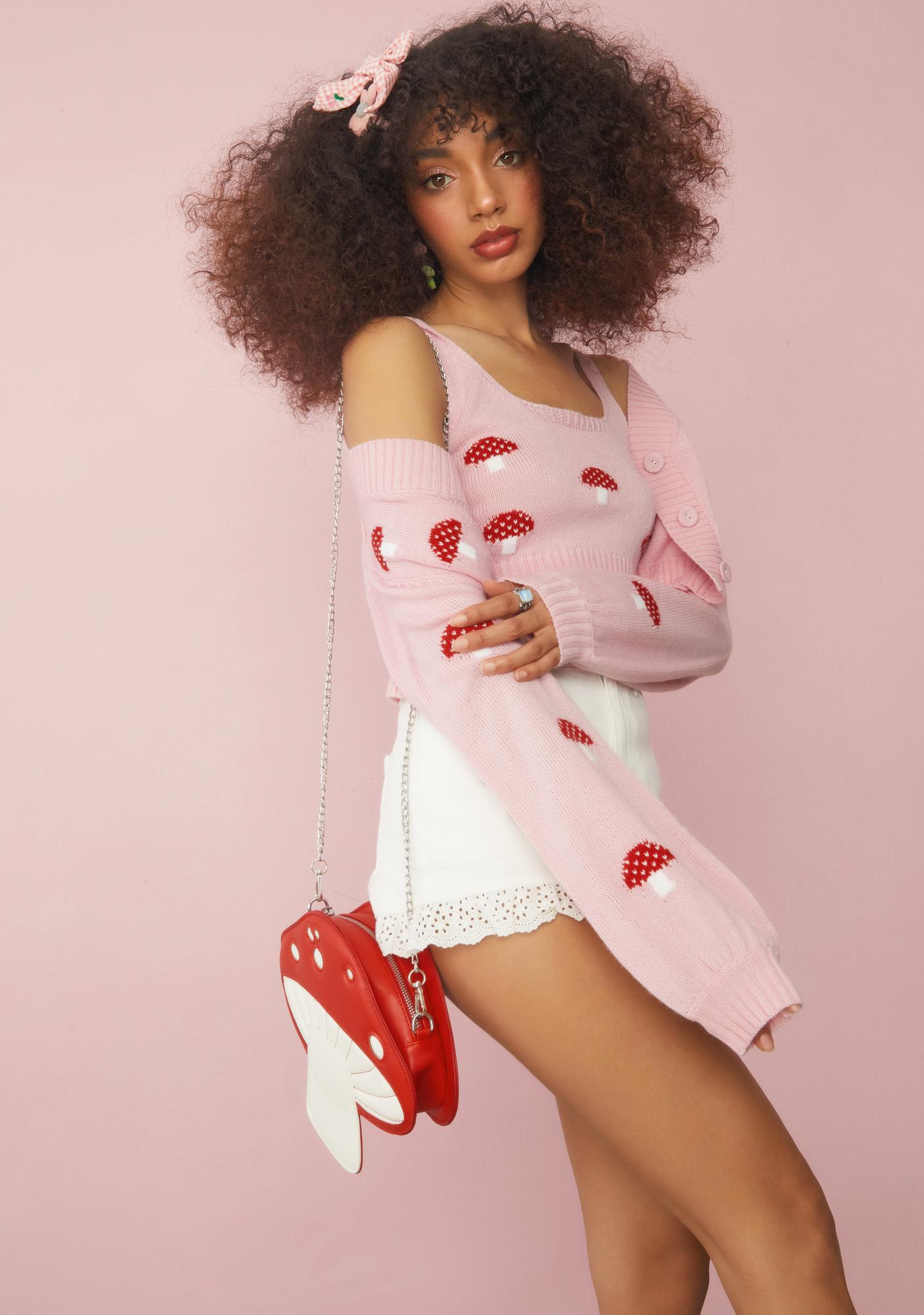 Sugar Thrillz Out Of Touch Mushroom Sweater Set
