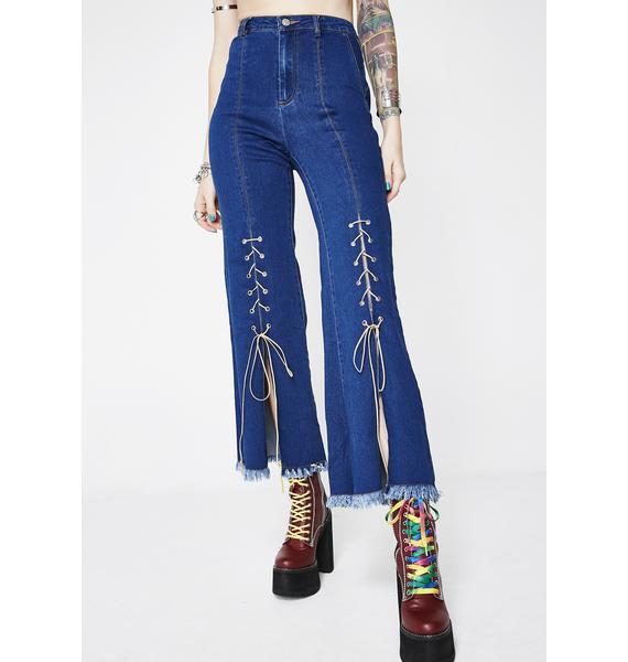 Hippie Spiritz Lace-Up Jeans