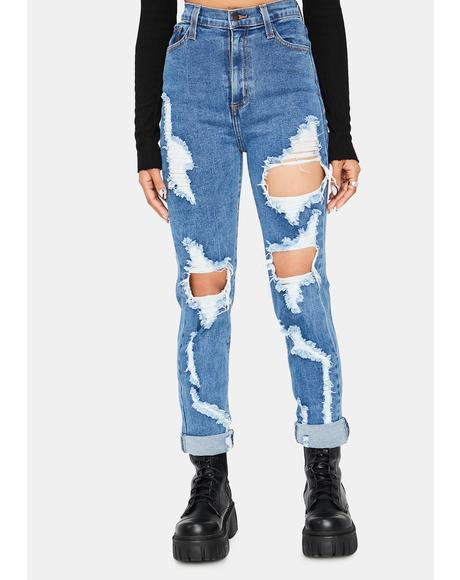 Breaking Habits Distressed High Waist Skinny Jeans