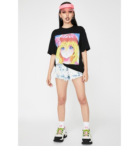 Becky Loves You Anime Blonde Girl Graphic Tee