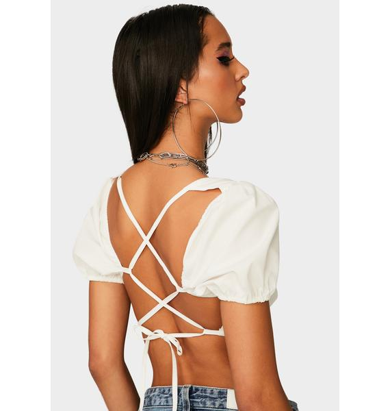 Twiin Allure Lace Up Crop Top