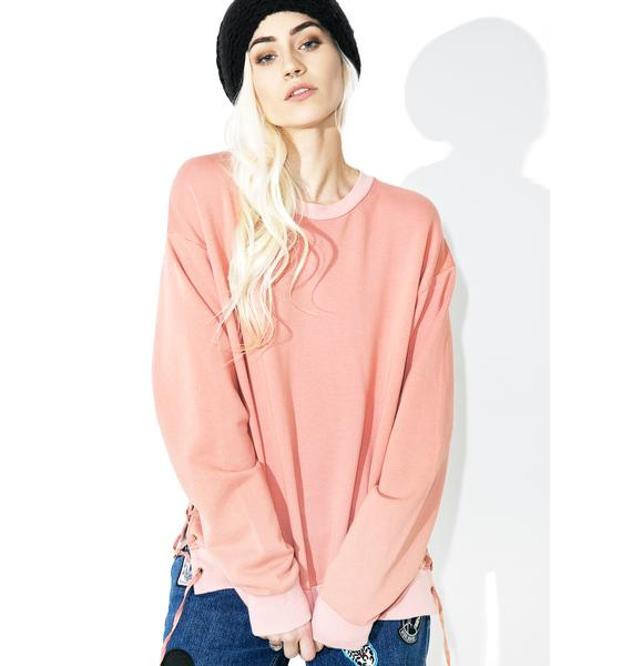 Fresh AF Lace Up Sweatshirt
