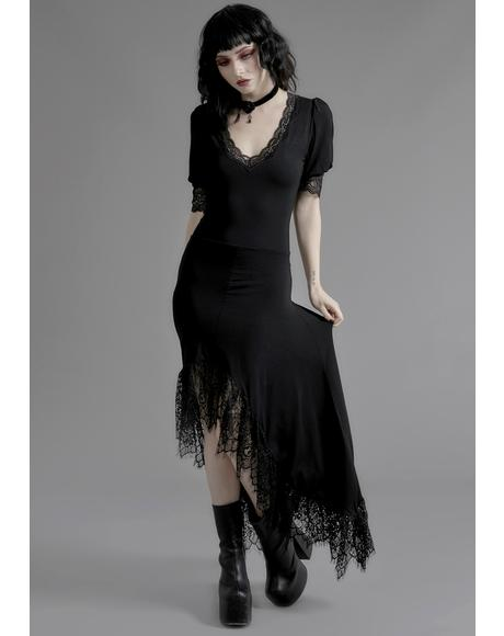 Veil Of Night Maxi Dress
